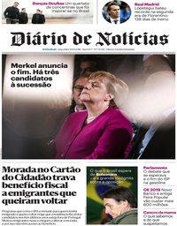 capa Diário de Notícias de 30 outubro 2018