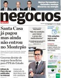 capa Jornal de Negócios de 22 outubro 2018