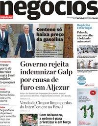 capa Jornal de Negócios de 30 outubro 2018
