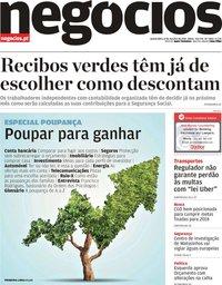 capa Jornal de Negócios de 31 outubro 2018