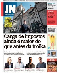 capa Jornal de Notícias de 21 outubro 2018