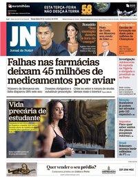 capa Jornal de Notícias de 23 outubro 2018