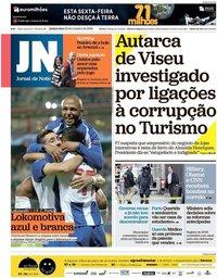 capa Jornal de Notícias de 25 outubro 2018