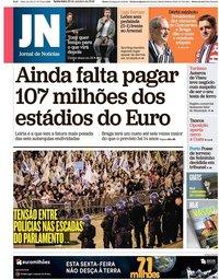 capa Jornal de Notícias de 26 outubro 2018