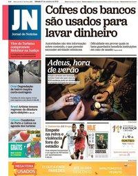 capa Jornal de Notícias de 27 outubro 2018