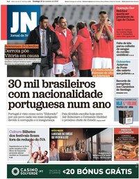 capa Jornal de Notícias de 28 outubro 2018