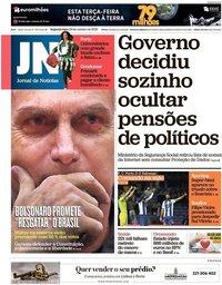 capa Jornal de Notícias de 29 outubro 2018