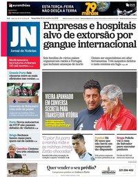 capa Jornal de Notícias de 30 outubro 2018