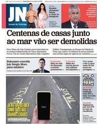 capa Jornal de Notícias de 31 outubro 2018