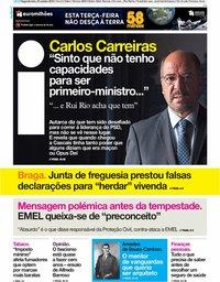 capa Jornal i de 22 outubro 2018