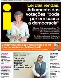 capa Jornal i de 24 outubro 2018