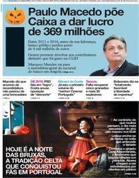 capa Jornal i de 31 outubro 2018