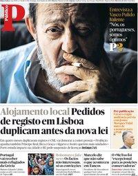 capa Público de 21 outubro 2018
