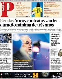 capa Público de 23 outubro 2018