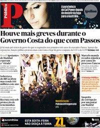 capa Público de 26 outubro 2018