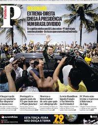 capa Público de 29 outubro 2018