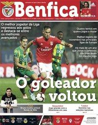 capa Jornal Benfica de 16 novembro 2018