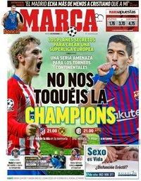 capa Jornal Marca de 6 novembro 2018