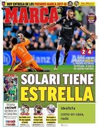 capa Jornal Marca de 12 novembro 2018