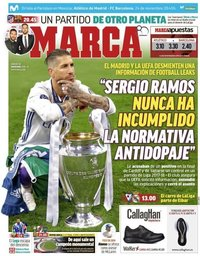 capa Jornal Marca de 24 novembro 2018