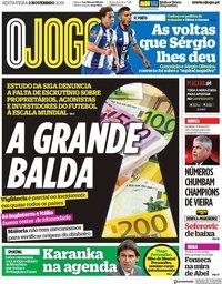 capa Jornal O Jogo de 2 novembro 2018