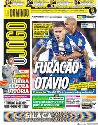 capa Jornal O Jogo de 4 novembro 2018