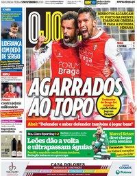 capa Jornal O Jogo de 5 novembro 2018