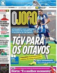 capa Jornal O Jogo de 7 novembro 2018
