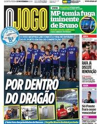 capa Jornal O Jogo de 15 novembro 2018