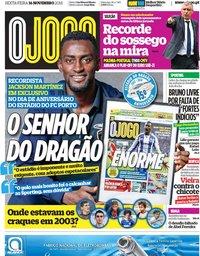 capa Jornal O Jogo de 16 novembro 2018