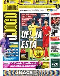 capa Jornal O Jogo de 18 novembro 2018