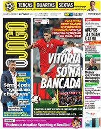 capa Jornal O Jogo de 21 novembro 2018