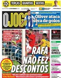 capa Jornal O Jogo de 23 novembro 2018