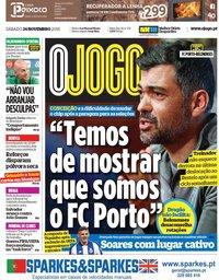 capa Jornal O Jogo de 24 novembro 2018
