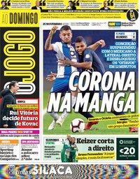 capa Jornal O Jogo de 25 novembro 2018