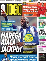 capa Jornal O Jogo de 27 novembro 2018
