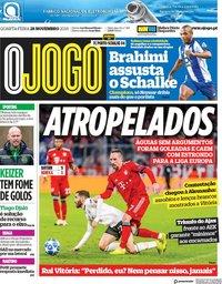 capa Jornal O Jogo de 28 novembro 2018
