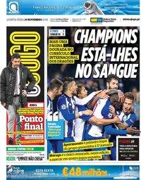 capa Jornal O Jogo de 29 novembro 2018