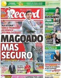 capa Jornal Record de 16 novembro 2018