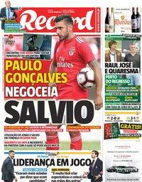 capa Jornal Record de 10 novembro 2018
