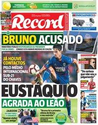 capa Jornal Record de 15 novembro 2018