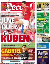 capa Jornal Record de 19 novembro 2018