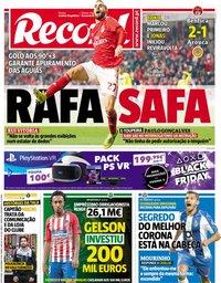 capa Jornal Record de 23 novembro 2018