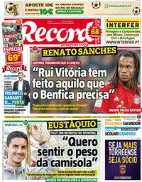 capa Jornal Record de 26 novembro 2018