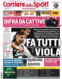 capa Corriere dello Sport de 2 dezembro 2018