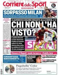 capa Corriere dello Sport de 3 dezembro 2018