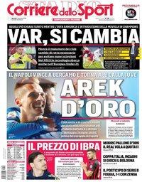 capa Corriere dello Sport de 4 dezembro 2018