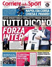 capa Corriere dello Sport de 6 dezembro 2018
