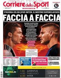 capa Corriere dello Sport de 7 dezembro 2018