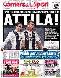 capa Corriere dello Sport de 8 dezembro 2018